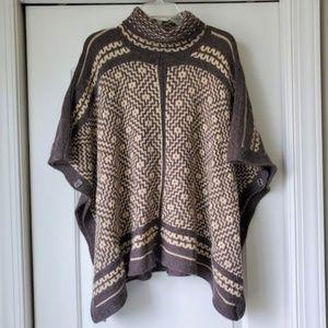 LRL Ralph Lauren Southwestern Print Sweater Poncho